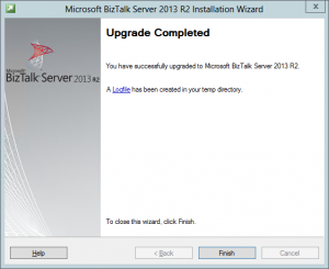 BizTalk Upgrade Complete