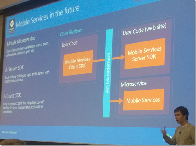 Mobile Services in light of Refactored App Platform