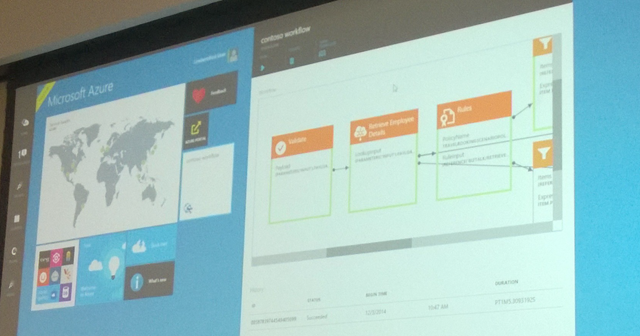 Azure BizTalk Microservices Workflow Running in the Azure Portal