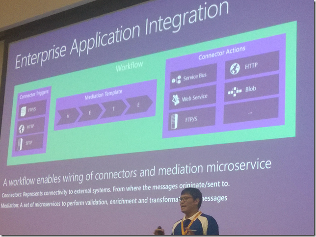 Sameer compares MABS with microservices architecture for the same