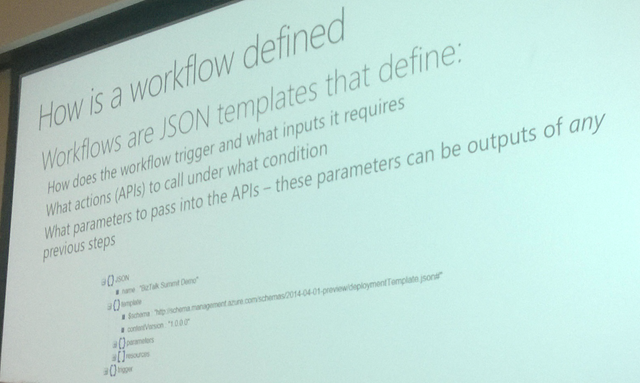 JSON Workflows -- Check the Namespace, we have Resource Manager in play