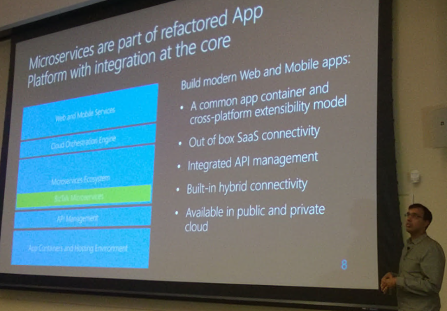 Microservices are part of refactored App Platform with integration at the core
