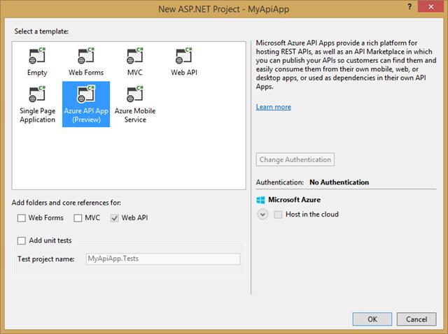 Azure API App Template