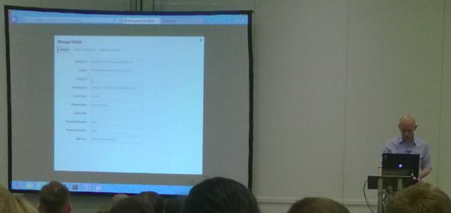 Tomasso showing off BizTalk 360's ESB Management Portal