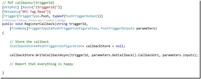Using the ICallbackStore interface