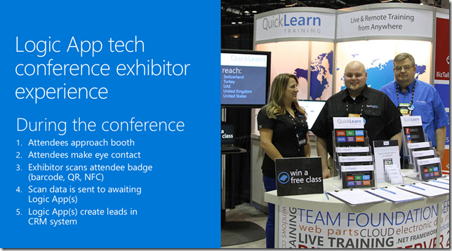 Logic App tech conference exhibitor experience