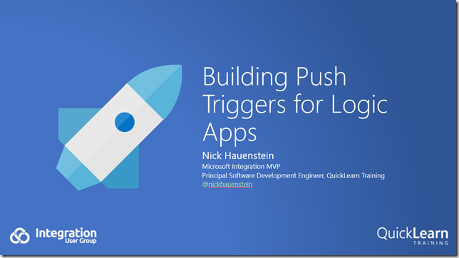 Building Push Triggers for Logic Apps