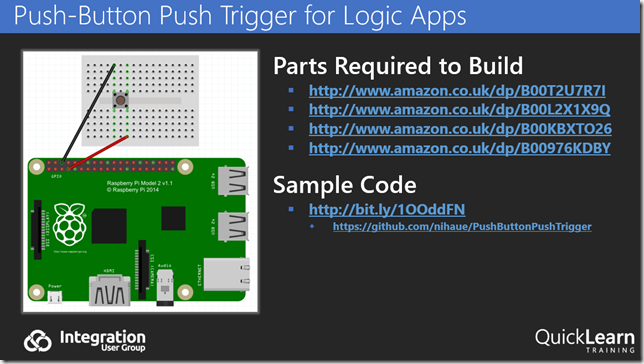 Push-Button Push Trigger for Logic Apps