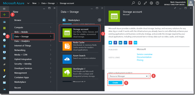 Creating an Azure Storage Account