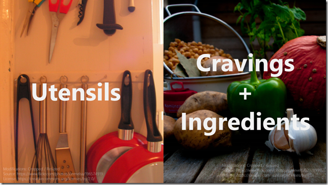 Utensils vs. Cravings + Ingredients